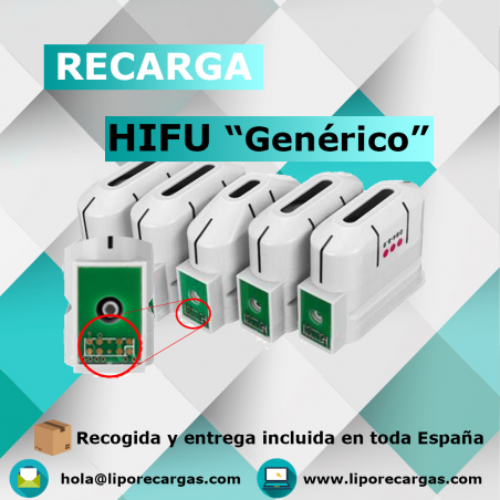 Recarga cartuchos HIFU Génericos